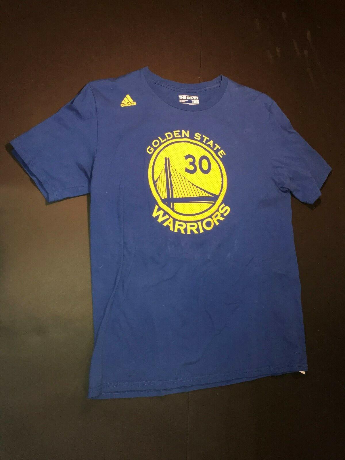 Wielka wyprzedaż ekskluzywne buty nowy produkt Adidas Steph Curry Golden State Warriors T-shirt Men's Large ...