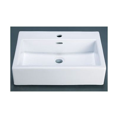 Ronbow Rectangle Ceramic Vessel Sink With Overflow In White