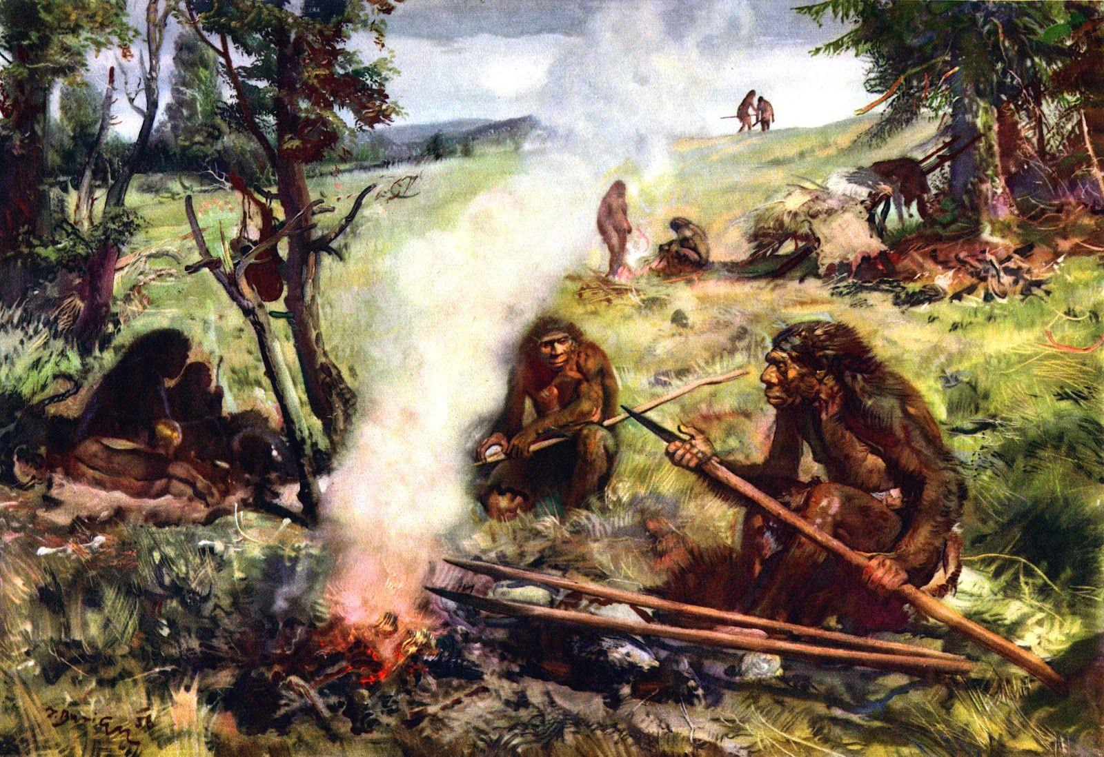 Illustration By Zdenek Burian Prehistoric Man