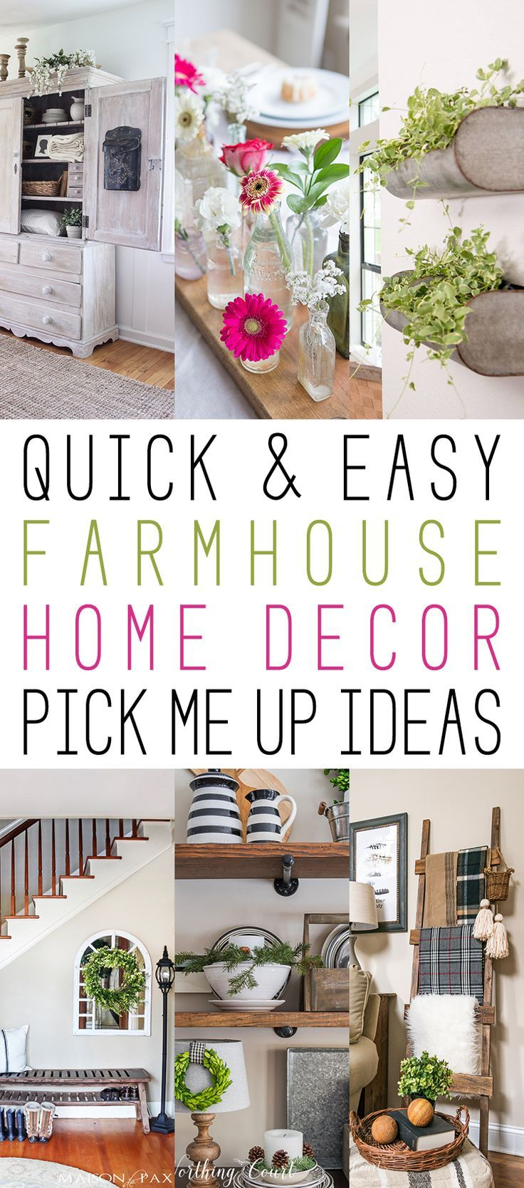 Quick and Easy Farmhouse Home Decor Pick Me Up Ideas | Easy ...