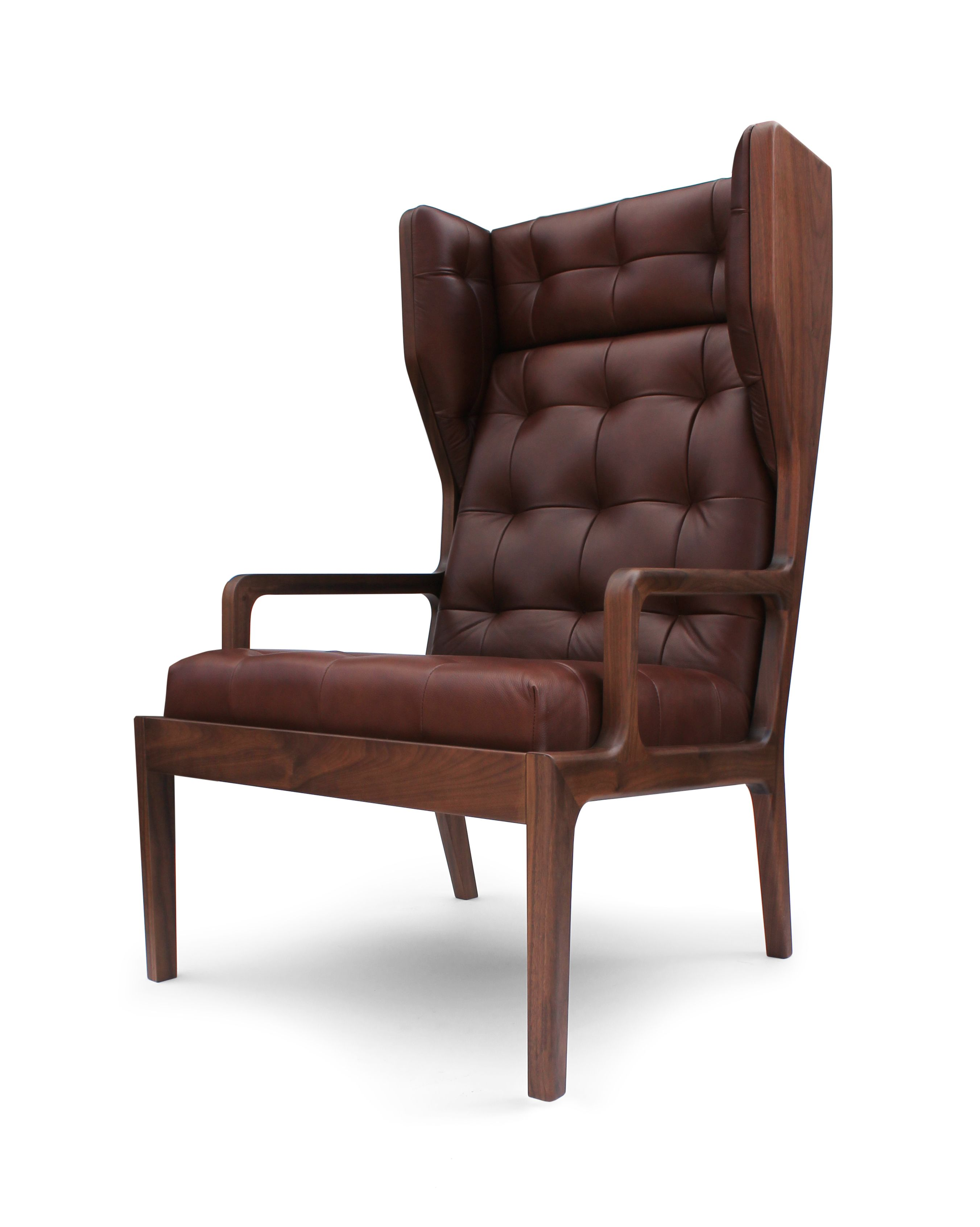 James UK Wing chair Wood furniture design, Modern