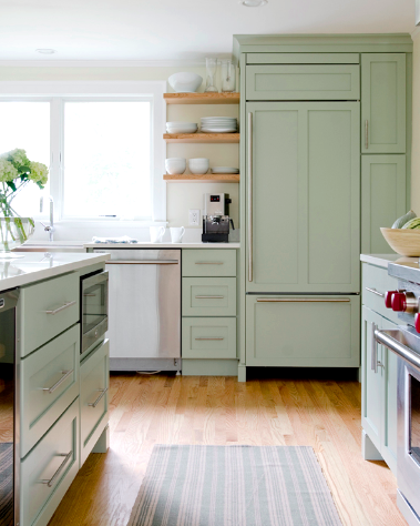 Would You Paint Your Kitchen Green Ashley Brooke Designs In 2020 Green Kitchen Cabinets Sage Green Kitchen Kitchen Cabinet Design