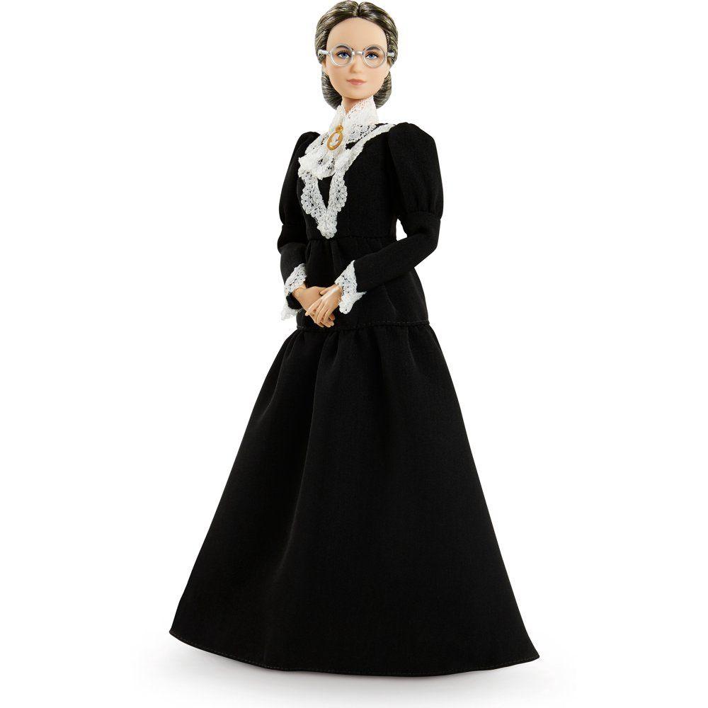 Barbie Inspiring Women Susan B Anthony Collectible Doll 12 Inch In Black Dress Walmart Com Wear Black Dresses Black Long Sleeve Dress Black Dress [ 1000 x 1000 Pixel ]