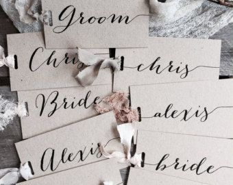 Mini Wedding Place Cards Place Cards Place Card by LaPommeEtLaPipe