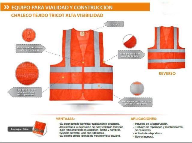 Equipo para #Vialidad y #Construcción en tela de alta visibilidad ...