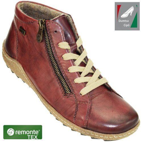 Remonte vízálló női bőr cipő R4774-35 bordó  fa134a2e0e