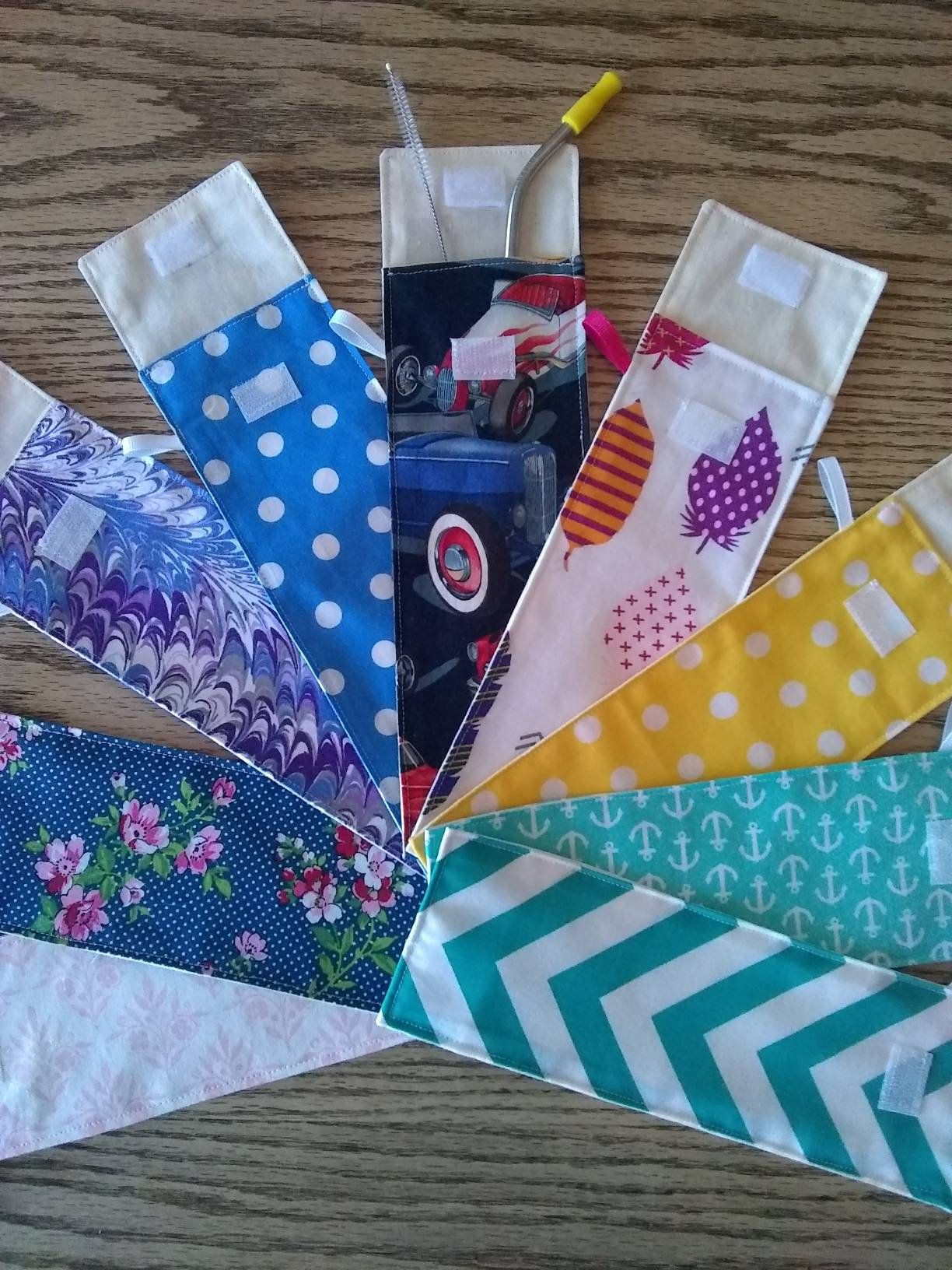 Reusable Drinking Straw Bag/Pouch Eco Friendly Cotton with
