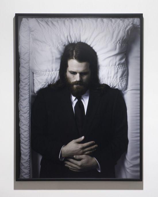 Matthew Day Jackson    Me, Dead at 35, 2009  C-print  101.6 x 76.2 cm / 40 x 30 in    Installation view, 'Dynamic Maximum Tension', Grimm Fine Art, Amsterdam, Netherlands, 2009