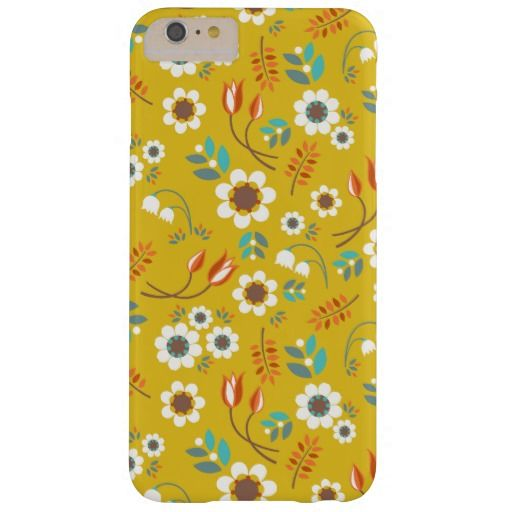 competitive price d62e4 a0aa5 Vintage Mustard Yellow Floral Flowers Pattern Barely There iPhone 6 ...