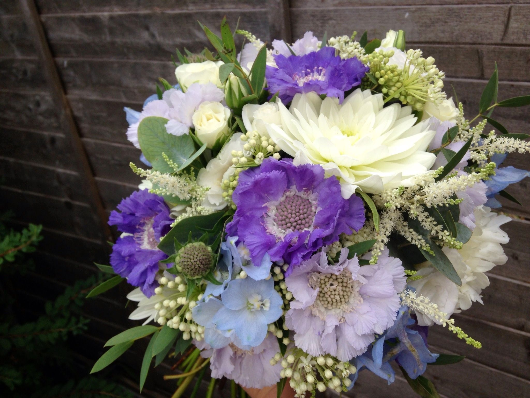 Wild wedding flowers white and purple google search purple kingscote barn wedding flowers pretty summer blue and white wedding flowers the rose shed izmirmasajfo Choice Image