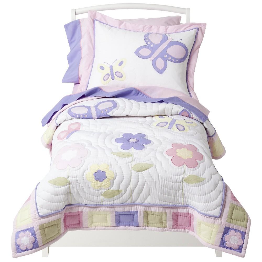 Sweet Jojo Designs Toddler Bedding Set Pink Lavender Butterfly