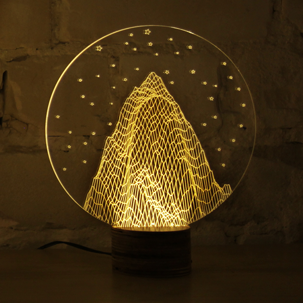 Stilnaya Tryohmernaya Led Lampa Ot Studii Cheha Magical Lamp Led Lamp Design Lamp Design