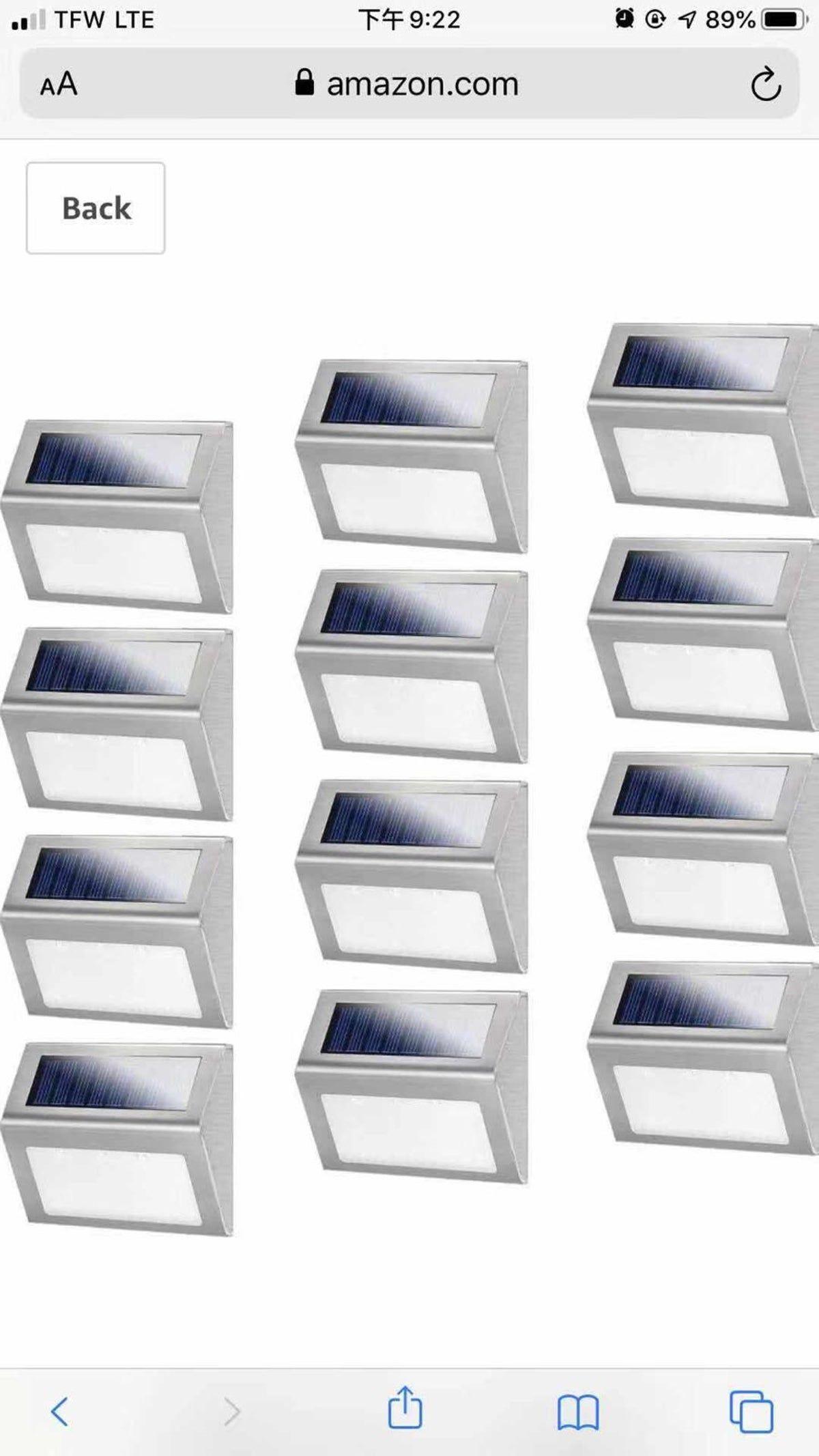12 Pack Solar Powered Deck Lightsdeck