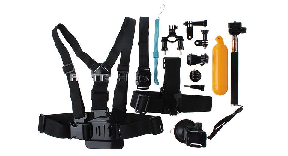 AT332 Camera Mount Accessories Set for GoPro / SJCAM (13-Piece Set) GoPro Accessories 5221002 - https://xtremepurchase.com/TechStore/2016/09/01/photo-video-gopro-accessories-5221002/