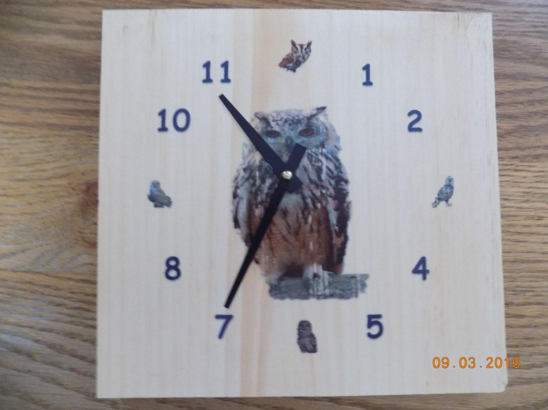 Owl Clock by WagonerEnterprises on Etsy