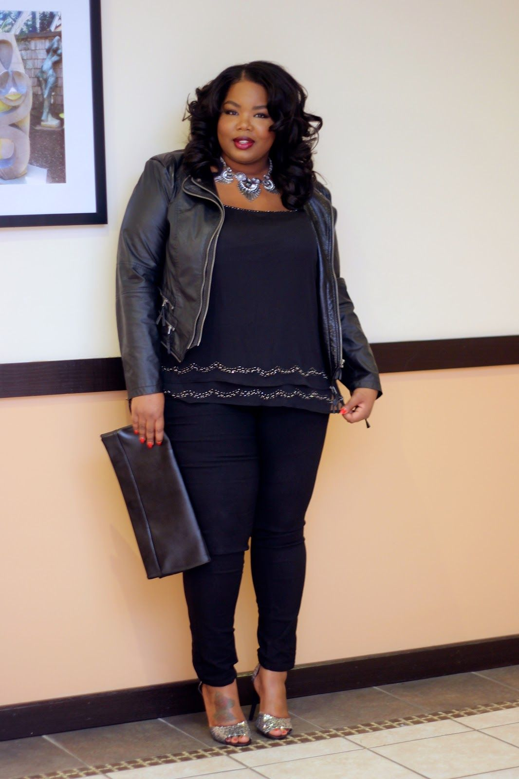 Plus Size NYE Outfit Ideas house party look