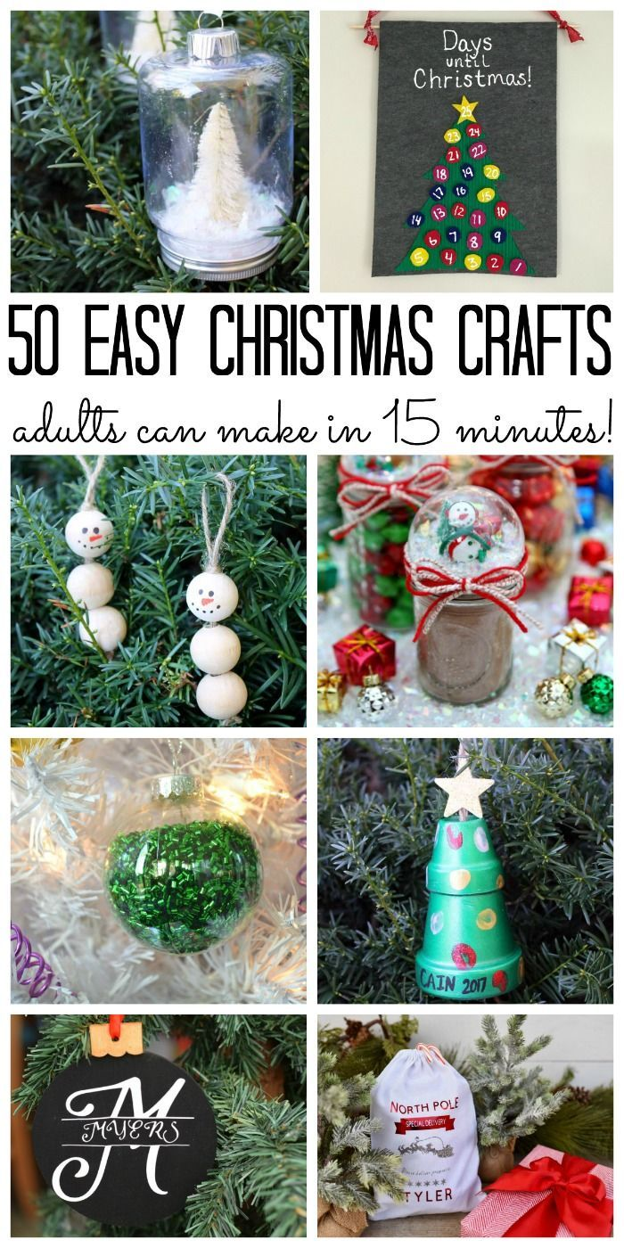 Over 50 Christmas Crafts for Adults Easy christmas
