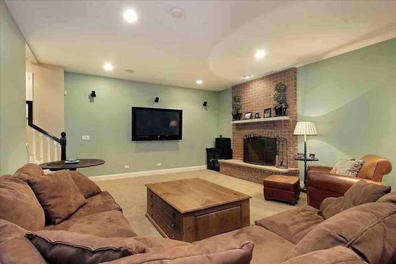 Home-office-design-ideen rustic basement family room ideas    living colors  pinterest