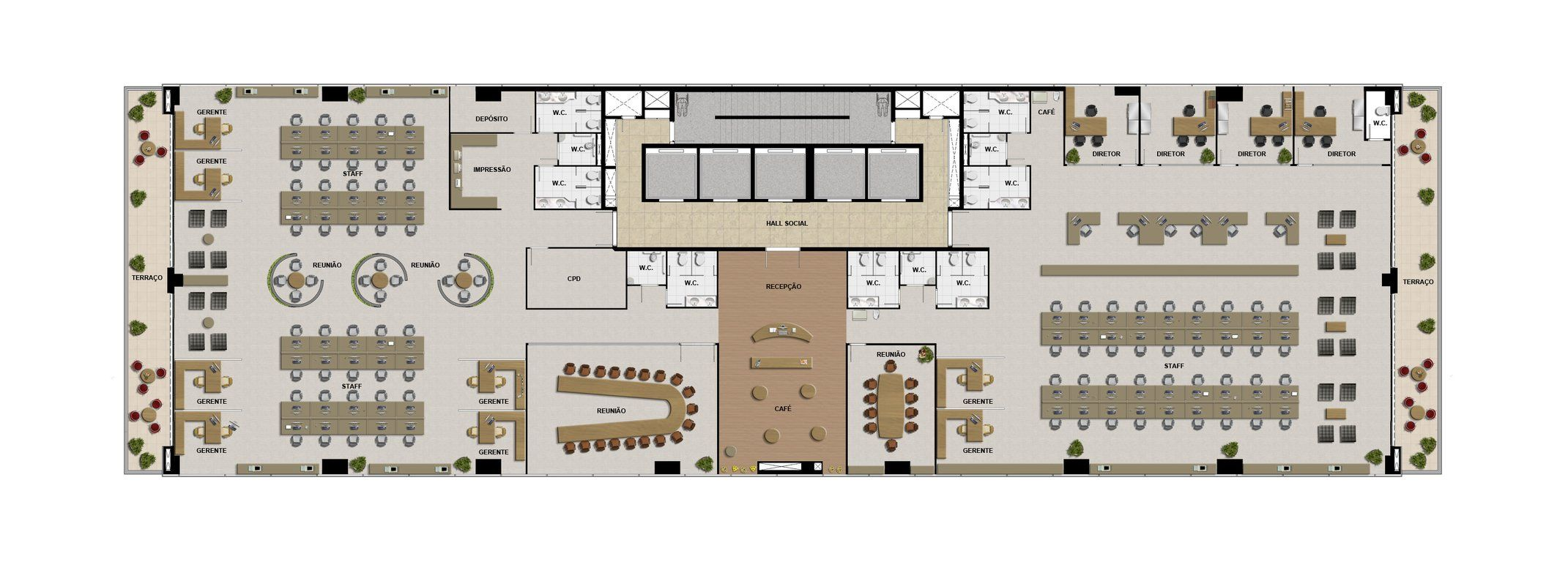Office floor plan recherche google design int rieur 2 for Office layout design