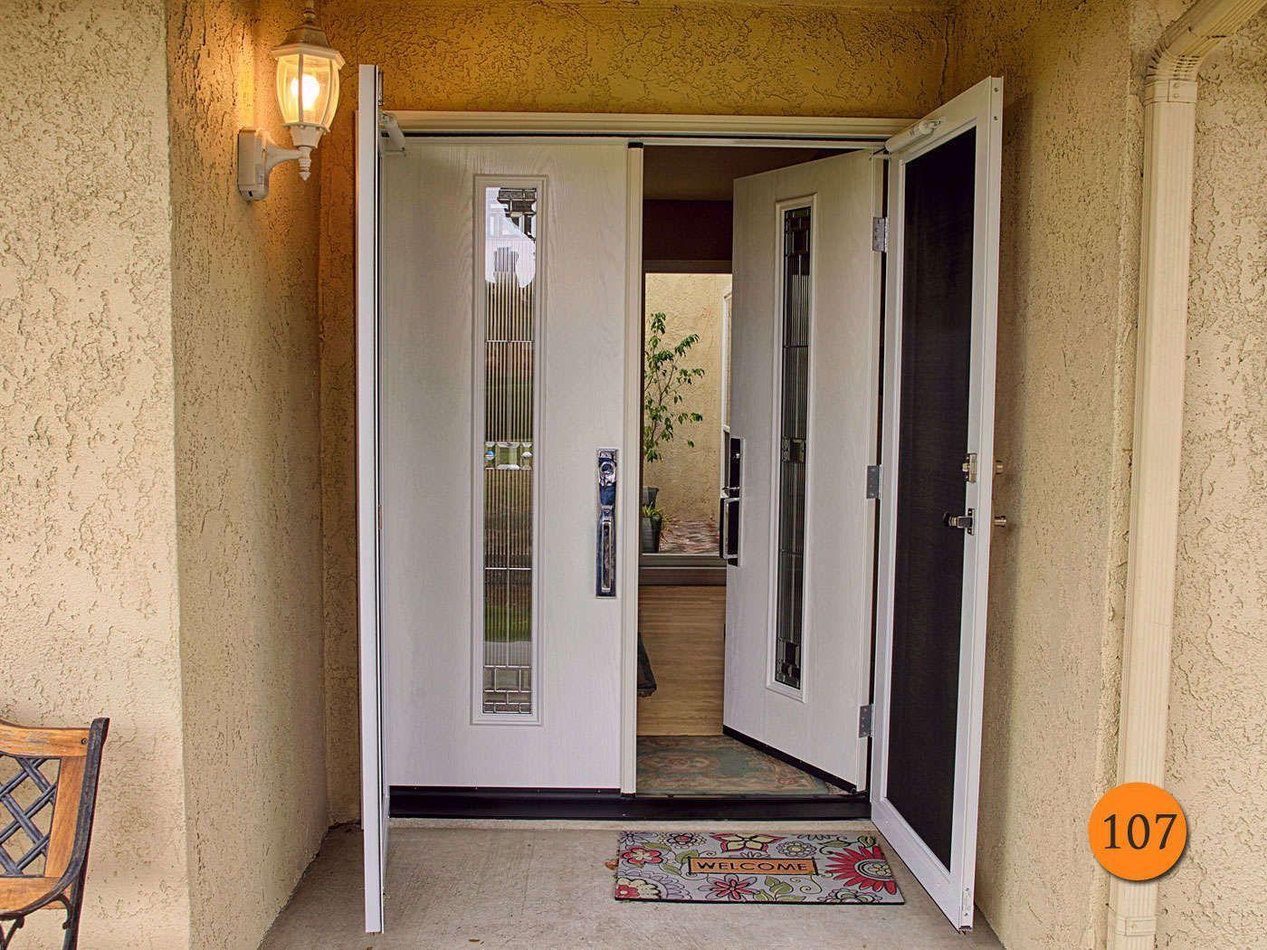 Modern 60 X80 Therma Tru Fc1sg Fibergl Double Entry Door Installed In San Clemente Ca