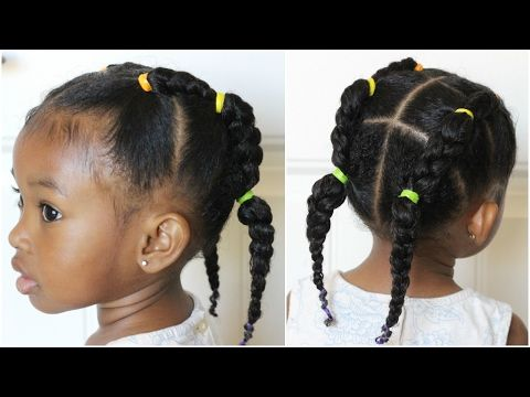 Piggy Back Braid 30 Days Of Hairstyles Day 4 Youtube Lil Girl Hairstyles Hair Styles Baby Hairstyles