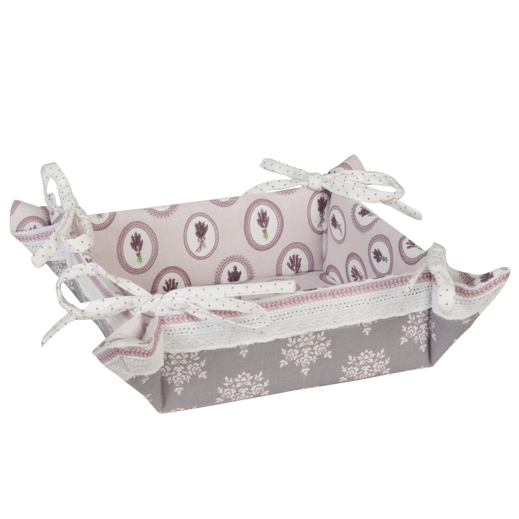 Mediterrane Wohnaccessoires hochwertiges dekoratives brotkörbchen mit wendemuster clayre