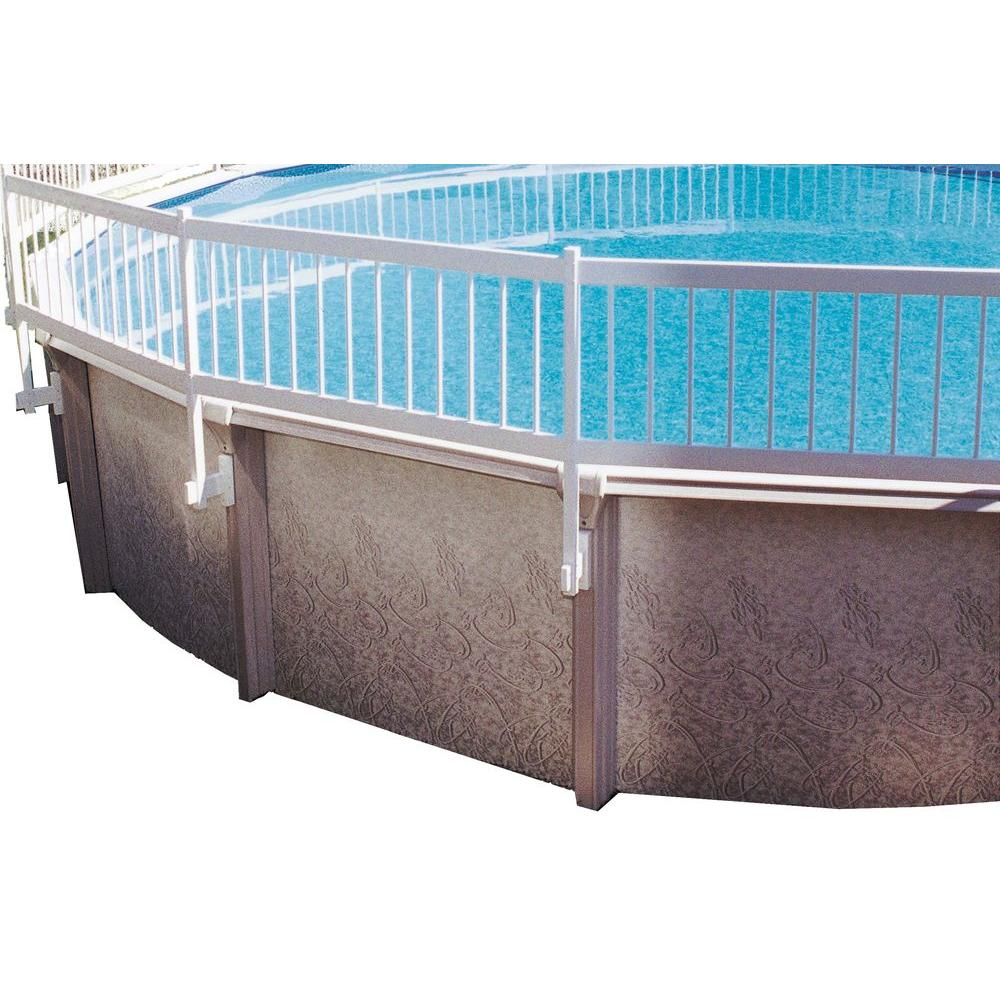 Gli Pool Products Above Ground Pool Fence Add On Kit B 3 Sections Ne146 The Home Depot Above Ground Pool Fence Pool Safety Fence In Ground Pools