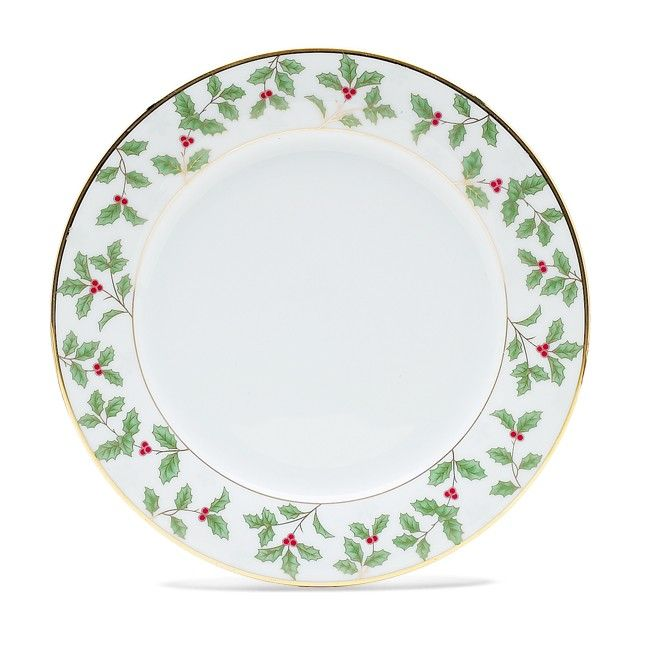 Noritake Holly And Berry Gold Salad Dessert Plate 8 1 4 Plates Gold Dinnerware Christmas Dinnerware