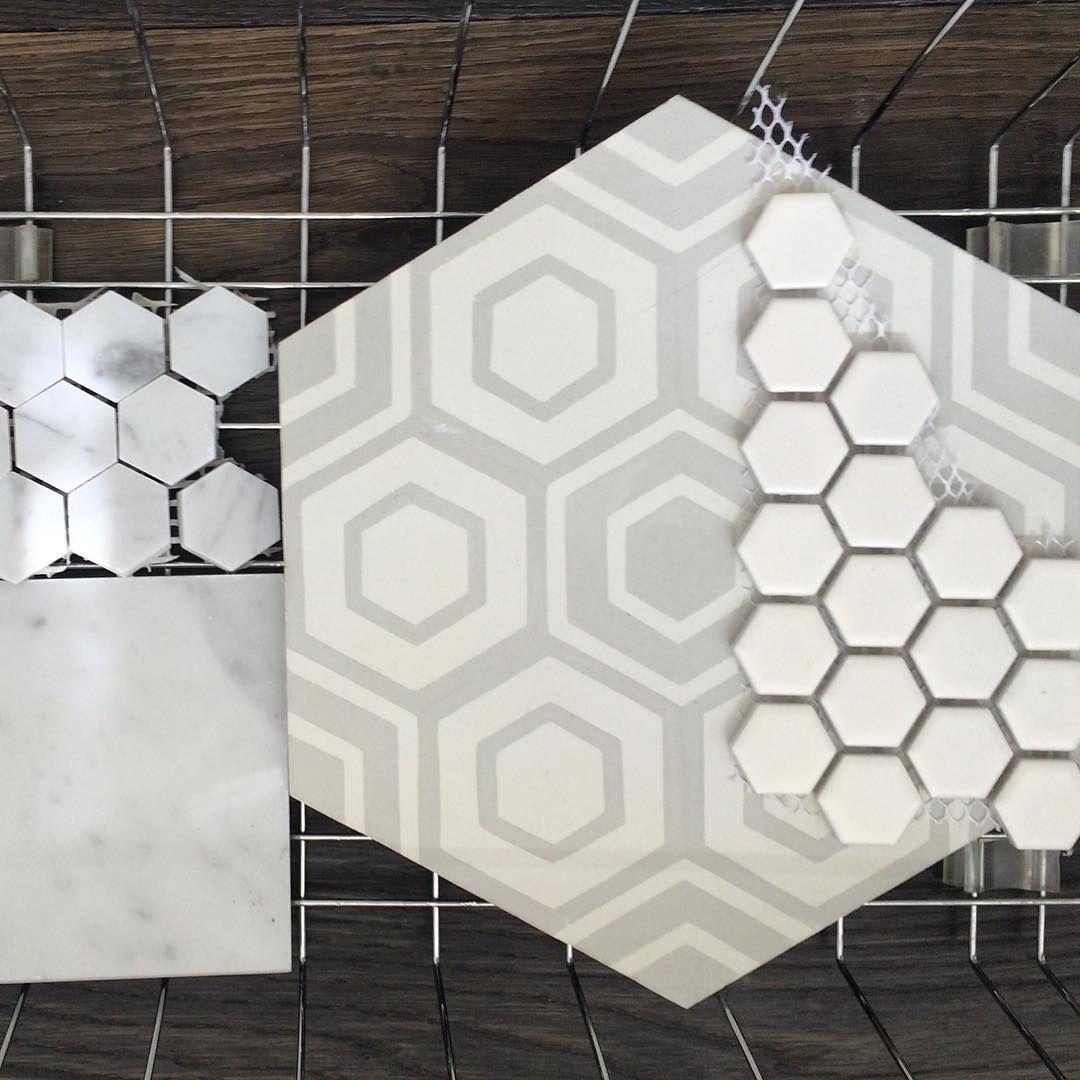 Working on a #bathroom design. #patternplay #greyandwhite #graphic
