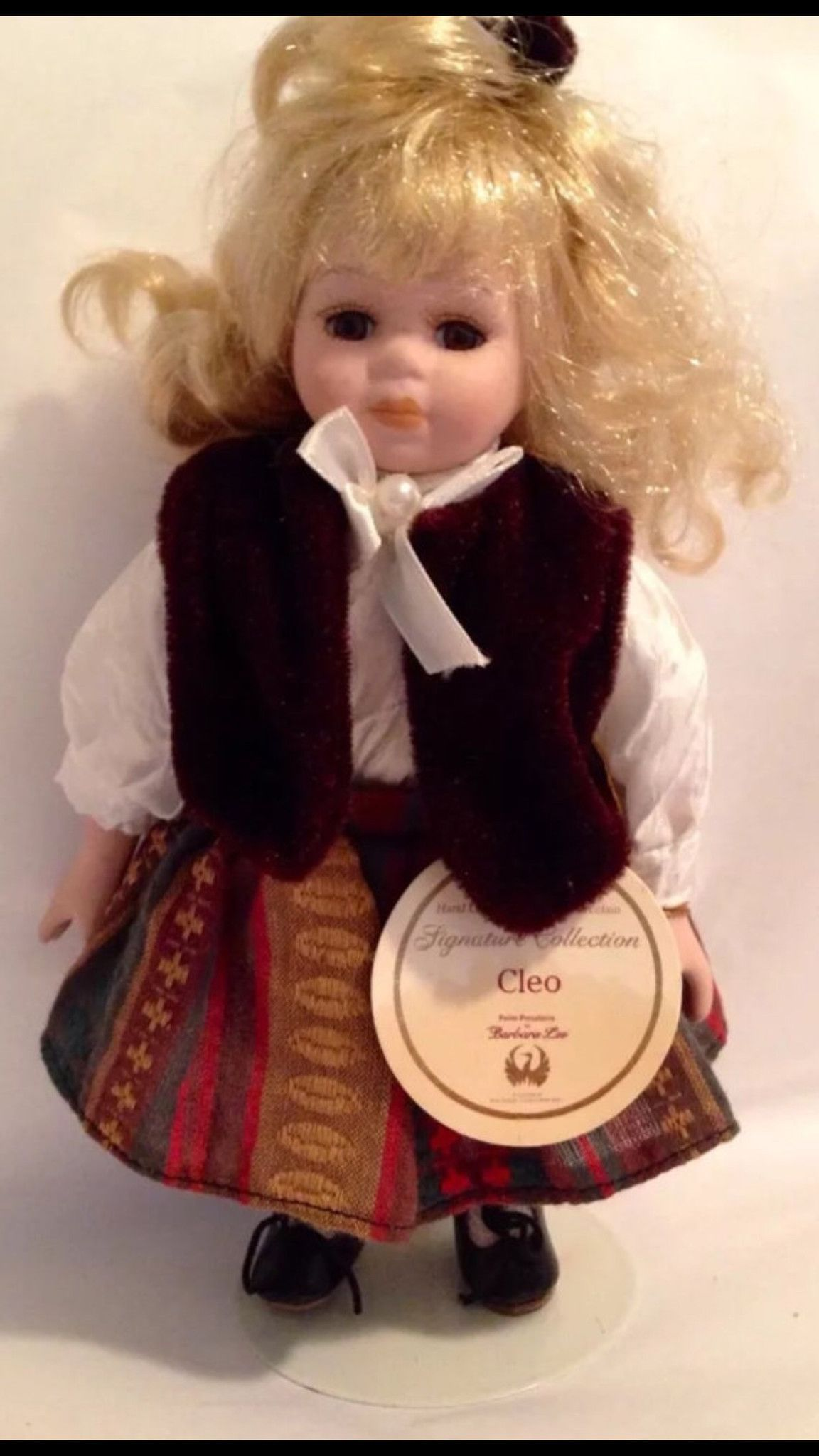 Vintage Collectible Petite Porcelain Doll By Barbara Lee Signature Hair Styling Spray 450 Ml Collection Limited Edition Cleo