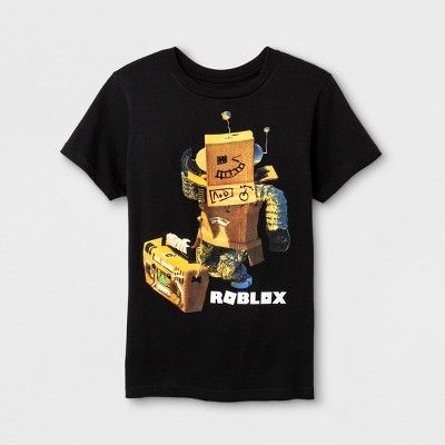 Boys Roblox Short Sleeve T Shirt Black Black Shirt Roblox T