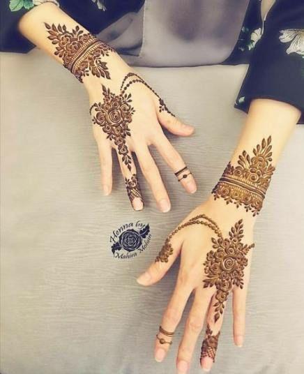 صور نقش حناء نقوش فخمة و انيقة و نقوش رقيقة و جميلة و اختاري ما يناسبك Henna Hand Tattoo Hand Henna Henna