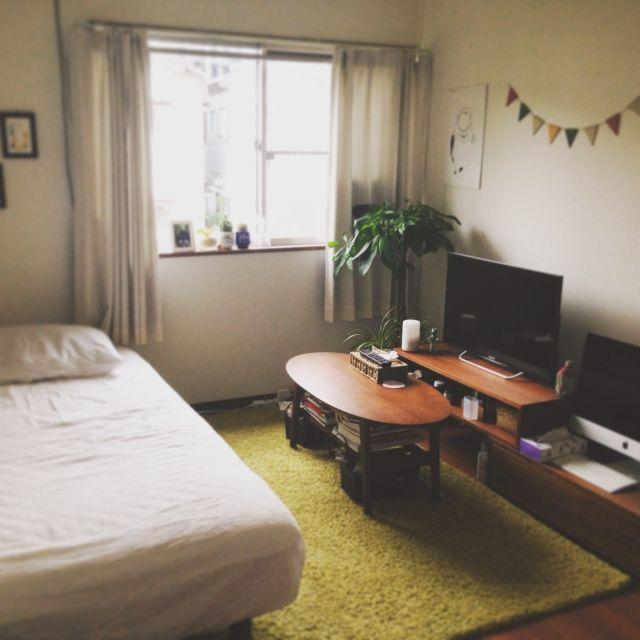 Mac 狭い部屋 などのインテリア実例 2015 08 31 07 10 02 Roomclip ルームクリップ 小さな部屋 インテリア 6畳 インテリア