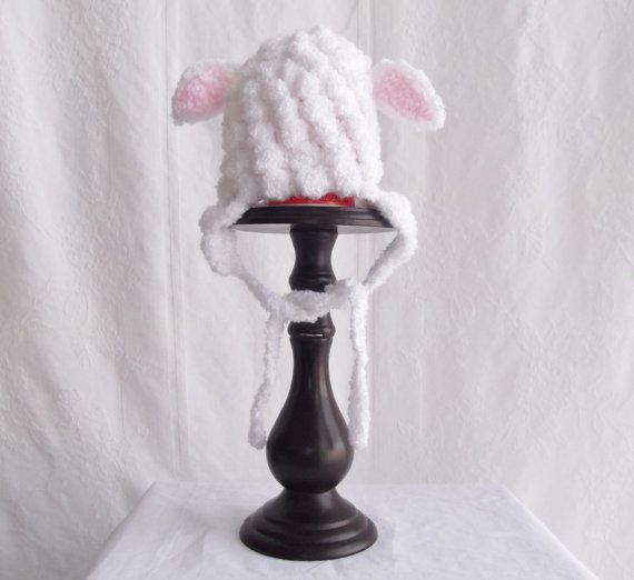 Hey, I found this really awesome Etsy listing at https://www.etsy.com/listing/218700596/crochet-baby-lamb-hat