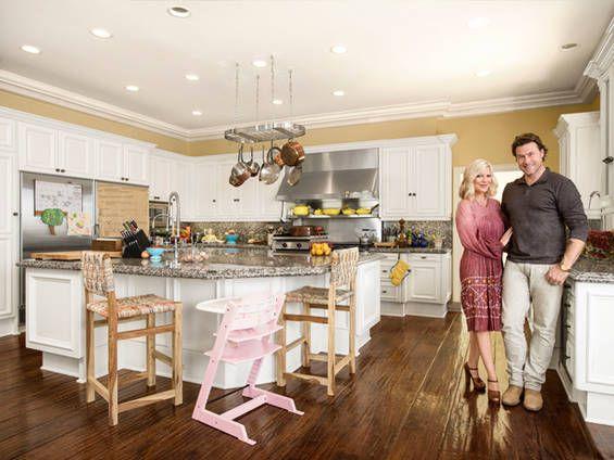 Tori Spelling Kitchen Design Island Keuken