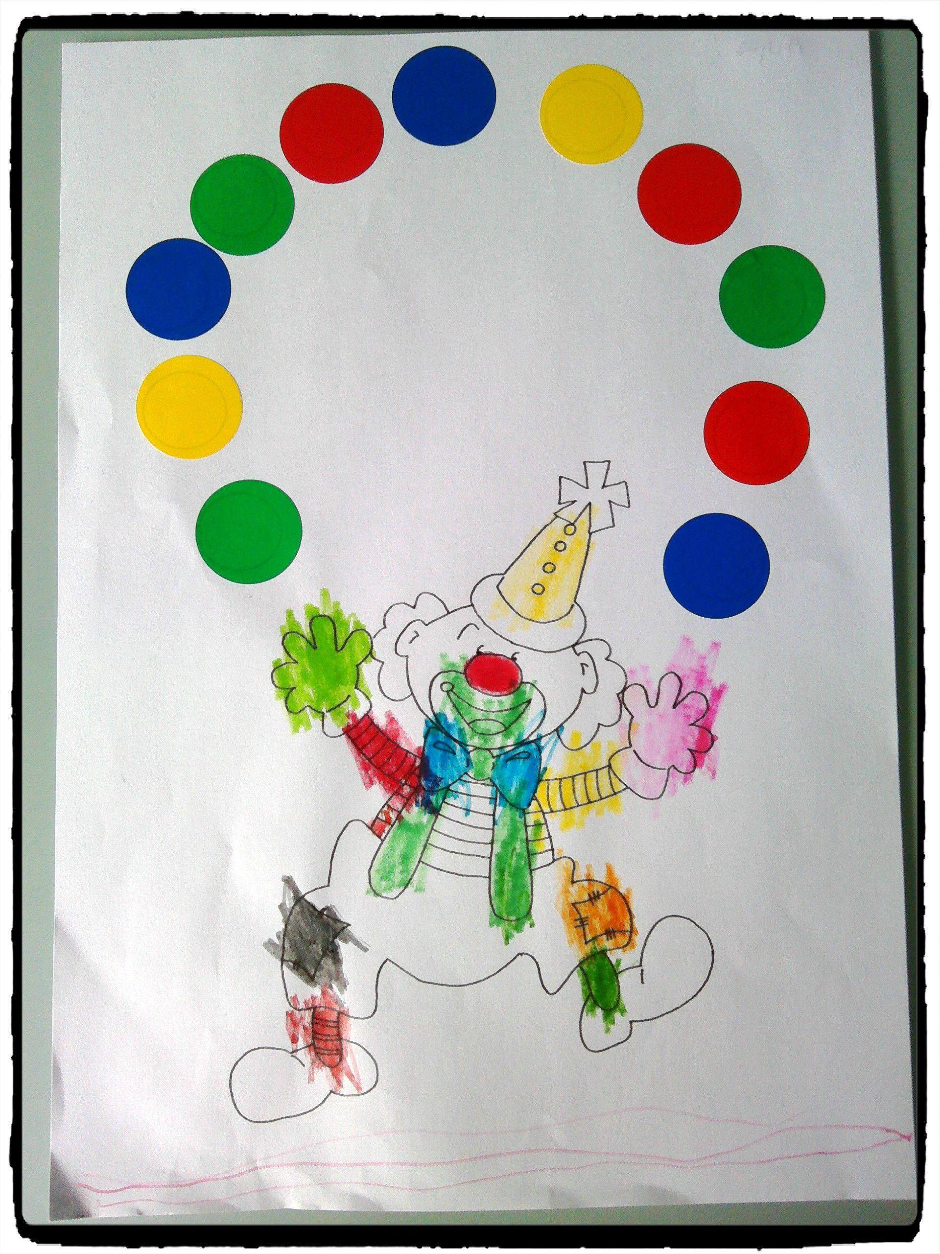 Le Clown Jongleur Activite Carnaval Activite Manuelle Cirque