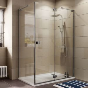 Cooke Lewis Luxuriant Rectangular Shower Enclosure Tray Waste Pack With Hinged Door W 1400mm Rectangular Shower Enclosures Shower Enclosure Big Bathrooms