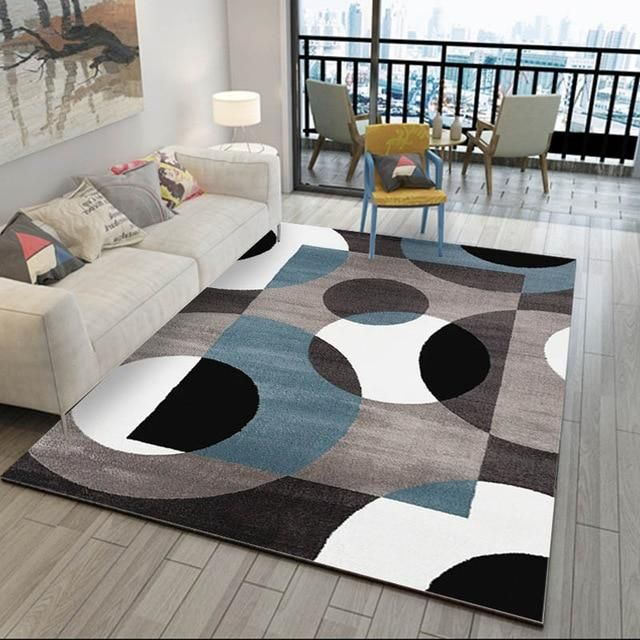 Aladin Black And White Geometric Rug Living Room Carpet Rugs
