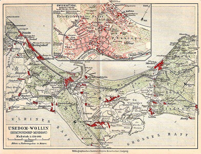 Usedom Karte Deutschland.Usedom Wollin Um 1910 Und Swinemünde карты Illustrierte Karten
