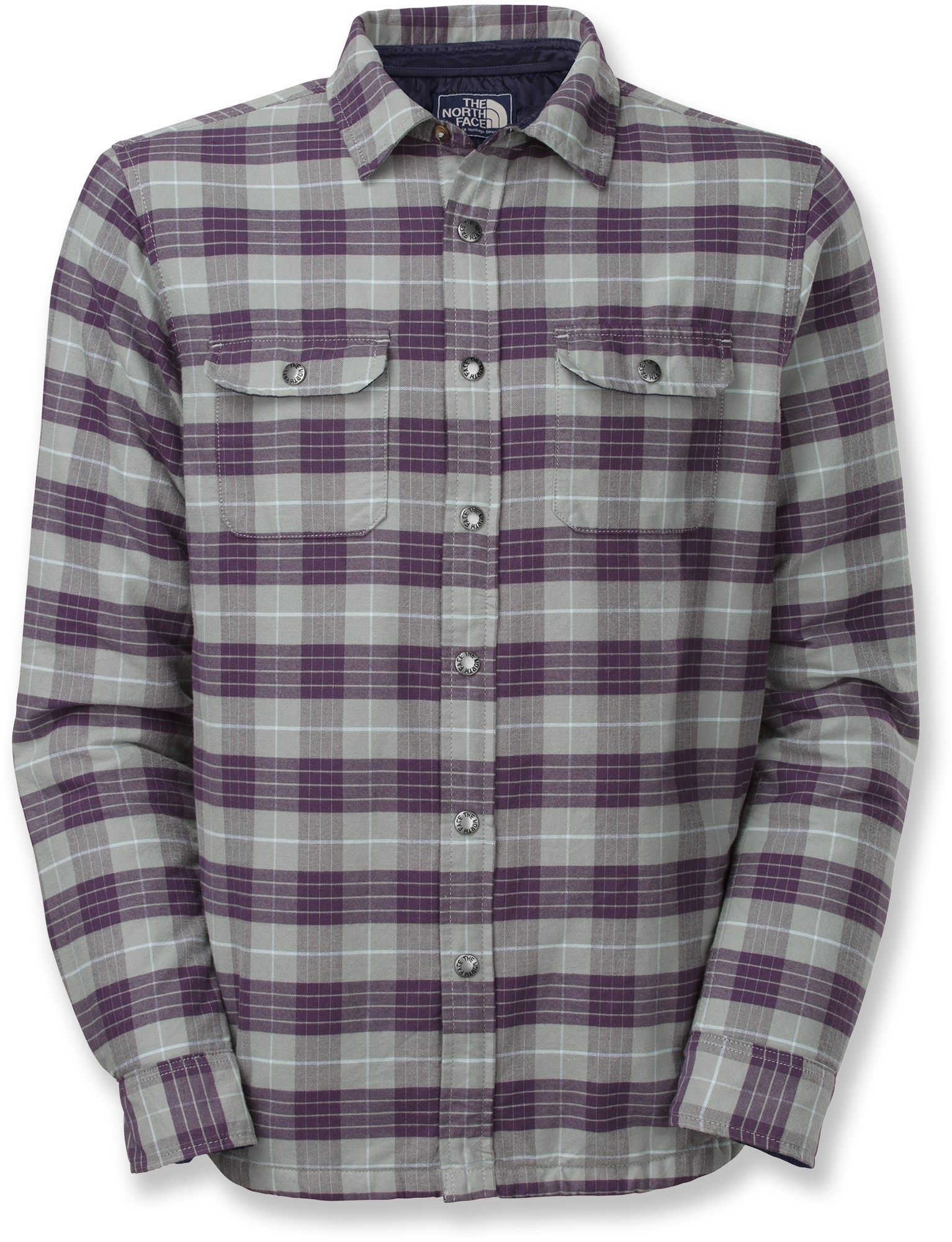 692b1f89d Monument Grey - The North Face Wesley Plaid Shirt Jacket - Men's ...