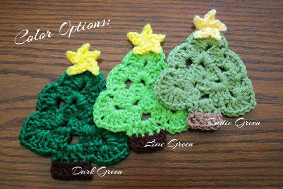 Crochet Christmas Tree Coasters Etsy Christmas Crochet Christmas Coasters Crochet Wedding Favours