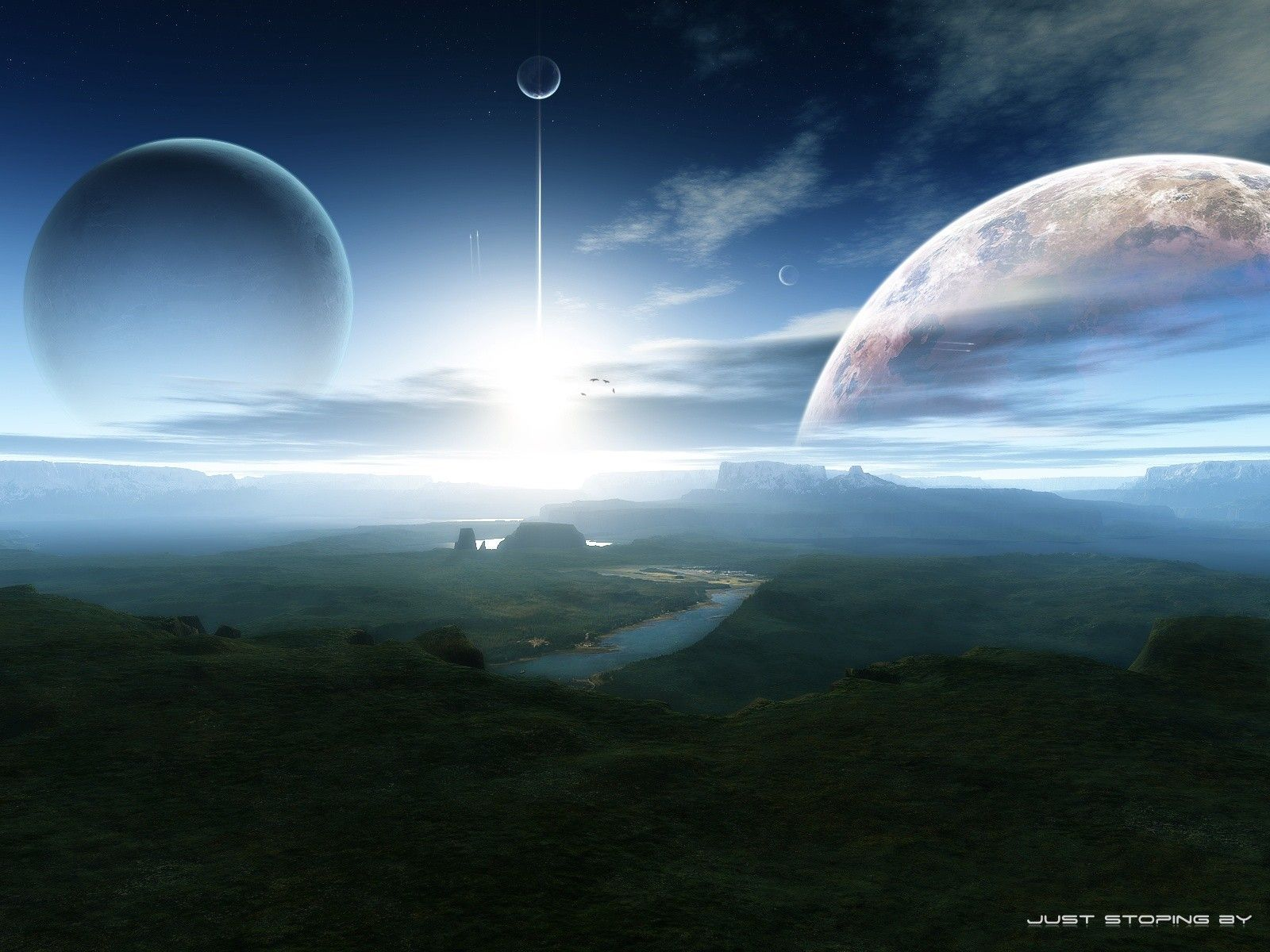 four-planets-in-tropical-planet-sky.jpg (1600×1200 ...