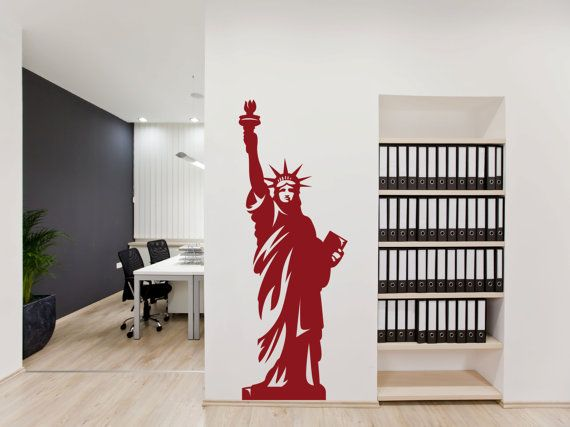 Statue Of Liberty Wall Decal New York Sticker Lady Liberty Decal Sticker