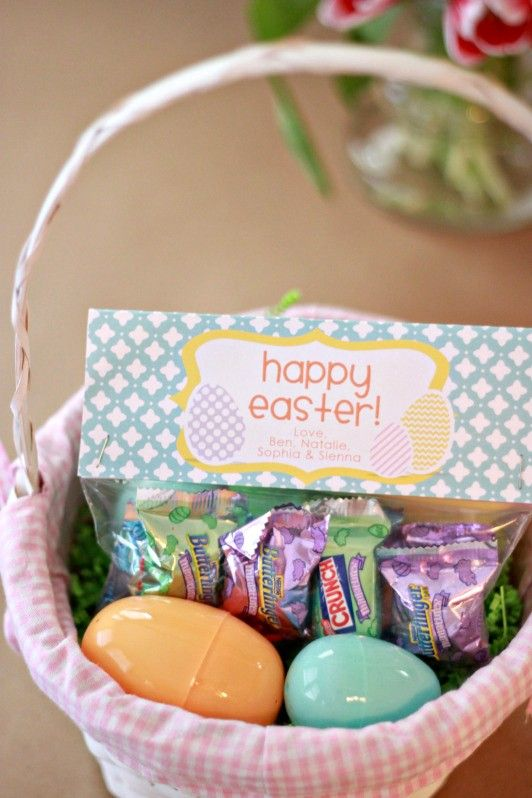 Easter treat bag tags patterned eggs by theprettypaperie on etsy easter negle Images