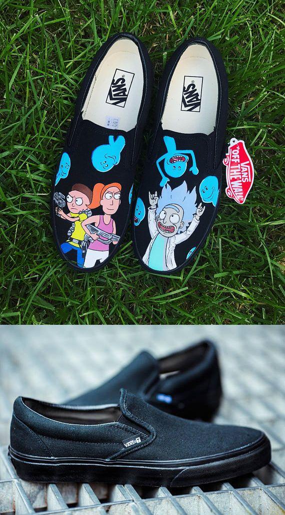 Custom Rick and Morty Adult Van Custom Sneakers 64f8a29ce