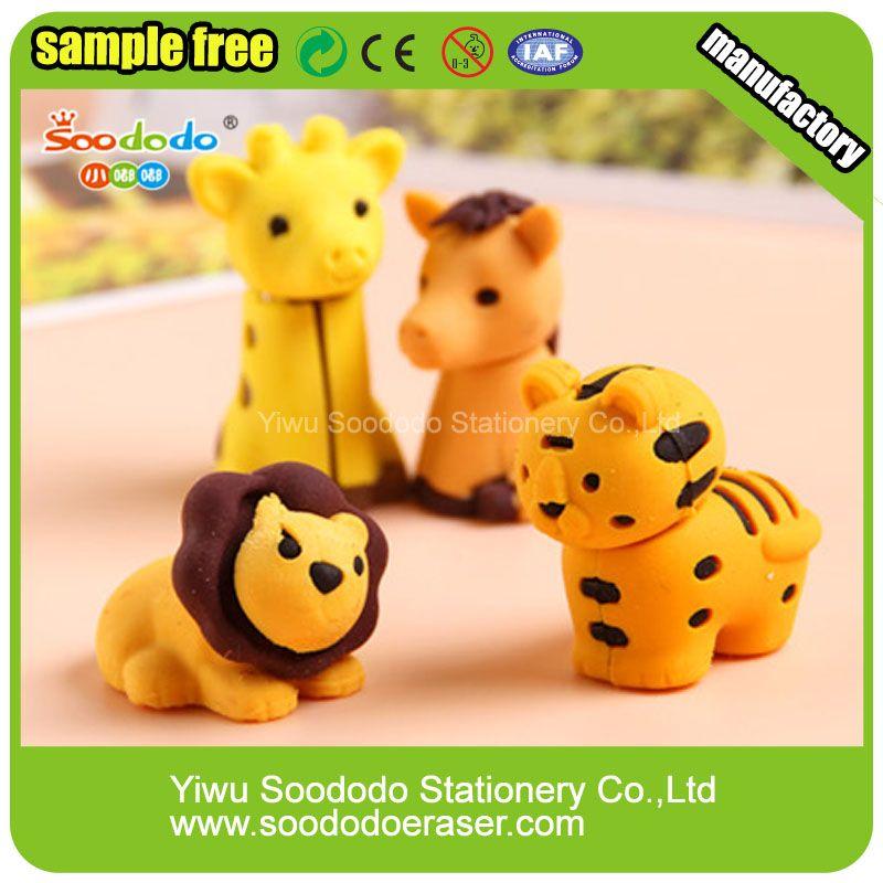 Wholesale Custom Japanese Mini Funny Cute Animal Shaped 3D Erasers