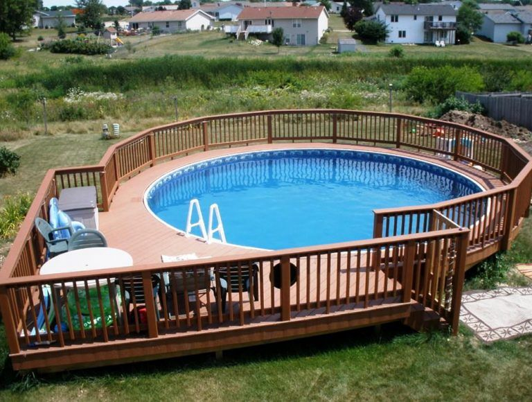 50 Best Above Ground Pools With Decks Pool Deck Plans Best Above Ground Pool Backyard Pool