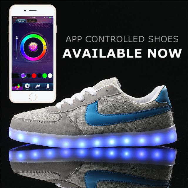 7fd5ecb79b App control LED Shoes men Light Up Shoes superstar tenis led sneaker flat  unisex hot fashion Adults lace Leisure casual Shoes