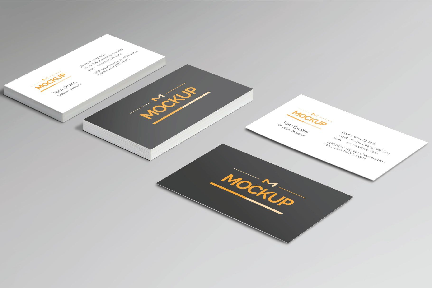 6 Style Business Card Mockups Business Card Mock Up Business