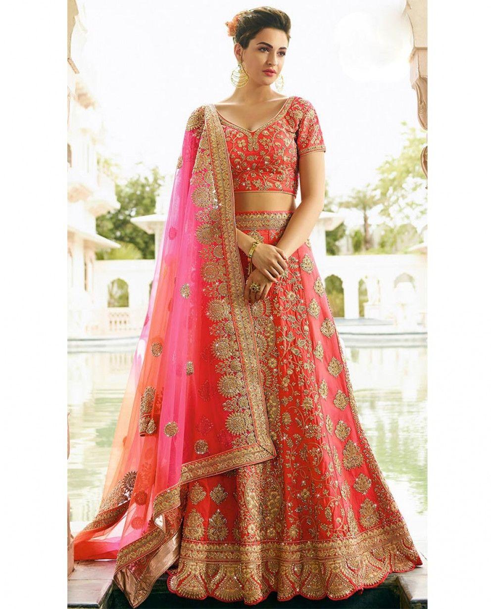 ff621224fd Colour Trendz Gajari Colour Embroidery Work Party ware #Lehenga Choli